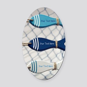 Personalized - Fish Net* Oval Car Magnet
