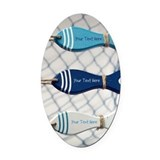 Nautical Oval Car Magnets
