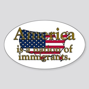 Nation of Immigrants Oval Sticker