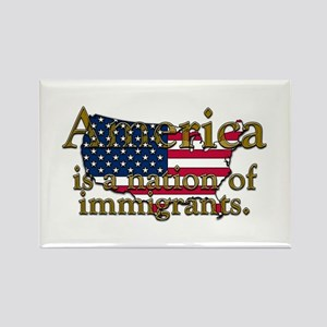 Nation of Immigrants Rectangle Magnet