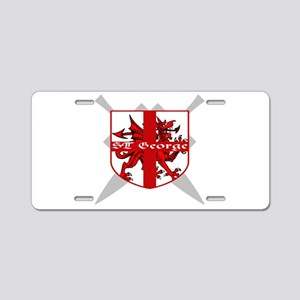 SAINT GEORGE FOR ENGLAND Aluminum License Plate