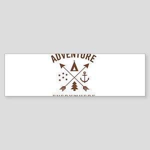 ADVENTURE EVERYWHERE Bumper Sticker
