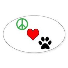 Peace, Love, Paws Sticker