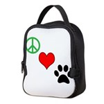 Peace, Love, Paws Neoprene Lunch Bag
