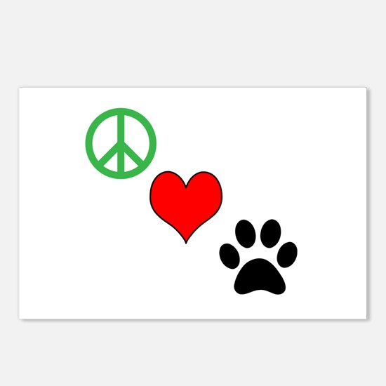 Peace, Love, Paws Postcards (Package of 8)