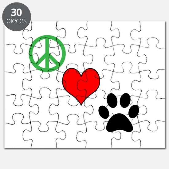 Peace, Love, Paws Puzzle