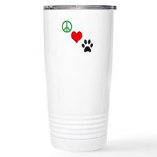 Peace, Love, Paws Travel Mug