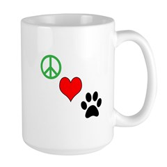 Peace, Love, Paws Mugs