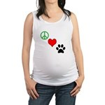 Peace, Love, Paws Maternity Tank Top