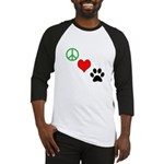 Peace, Love, Paws Baseball Jersey