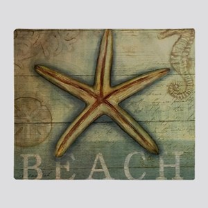 Starfish, Sand Dollar & Seahorse Throw Blanket