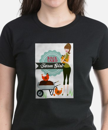 Backyard Farm Girl T-Shirt