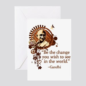 Funky Gandhi-Be the change... Greeting Card