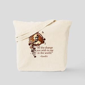 Funky Gandhi-Be the change... Tote Bag
