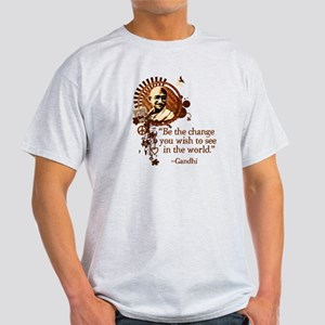 Funky Gandhi-Be the change... Light T-Shirt