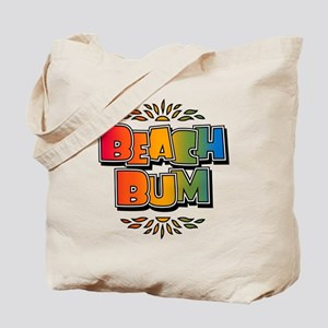 Beach Bum Retro Rainbow Tote Bag