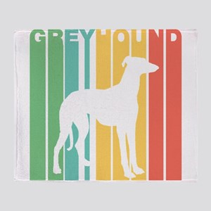 Retro Greyhound Silhouette Throw Blanket
