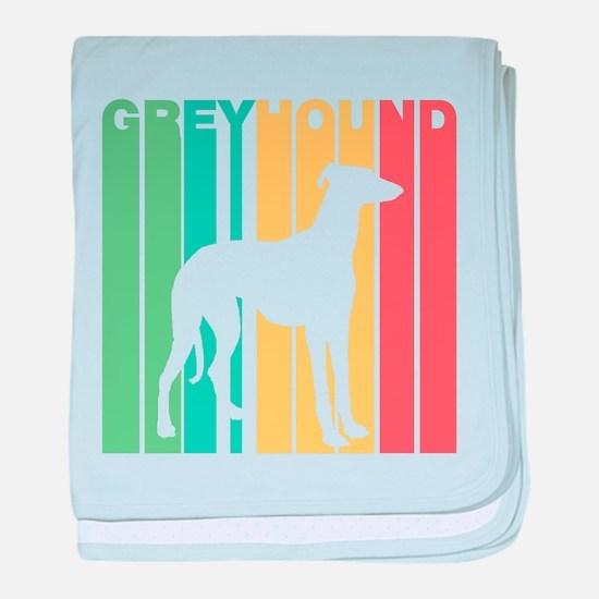 Retro Greyhound Silhouette baby blanket
