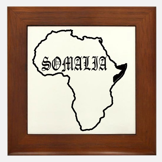 Cute Somalia Framed Tile