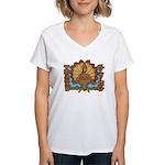 Thanksgiving Turkey Women's V-Neck T-Shirt