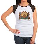 Thanksgiving Turkey Women's Cap Sleeve T-Shirt