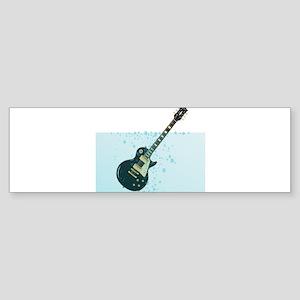 Sinking Guitar Bumper Sticker