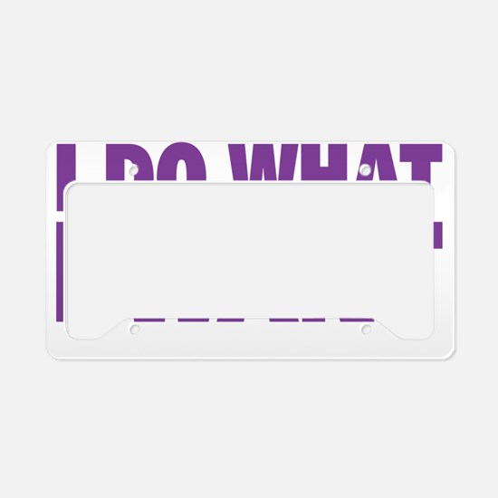 Unique What do we want License Plate Holder
