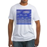 77.cloud study..? Fitted T-Shirt