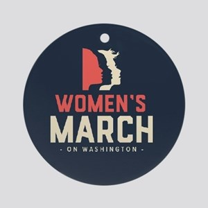 womens march on Washington Round Ornament