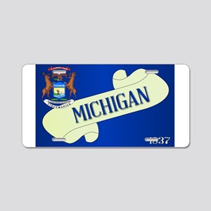 Michigan Scroll Aluminum License Plate