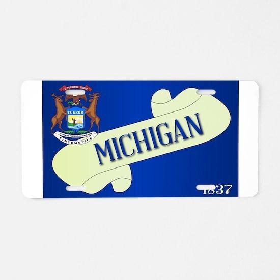 Michigan Scroll Aluminum License Plate