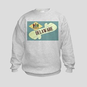 Delaware Scroll Kids Sweatshirt