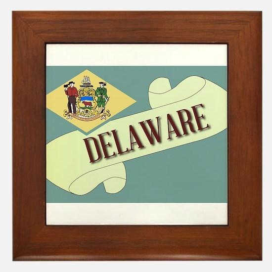 Delaware Scroll Framed Tile