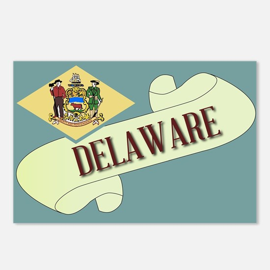 Delaware Scroll Postcards (Package of 8)
