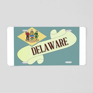 Delaware Scroll Aluminum License Plate