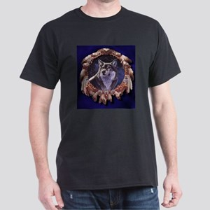 Native American Wolf Dream Catcher T-Shirt
