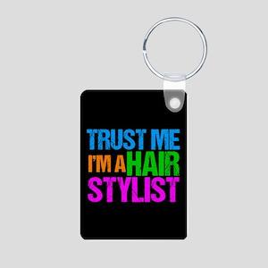 Hair Stylist Aluminum Photo Keychain