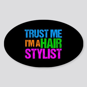 Hair Stylist Sticker (Oval)