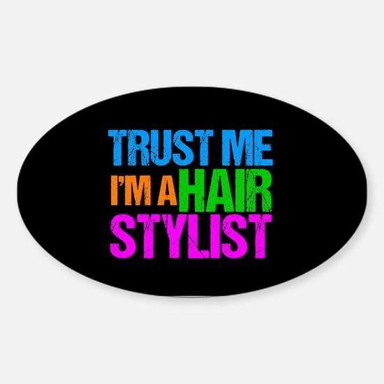 Hair Stylist Sticker (Oval)