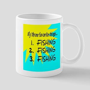 3 Favorite Things (fishing) Mugs
