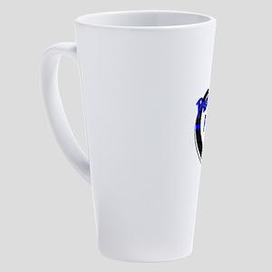 Proud Police Wife 17 oz Latte Mug