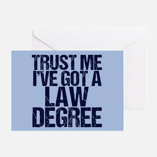 Lawyer Trust Me Greeting Card