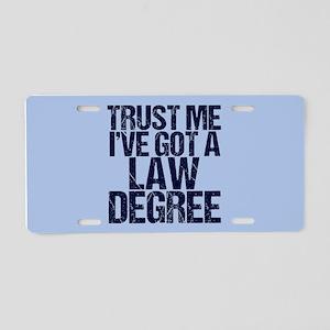 Lawyer Trust Me Aluminum License Plate