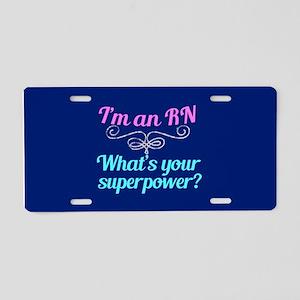 Super RN Cute Aluminum License Plate