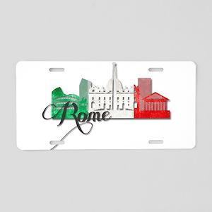 Rome Italy Aluminum License Plate