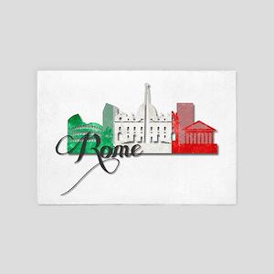 Rome Italy 4' x 6' Rug