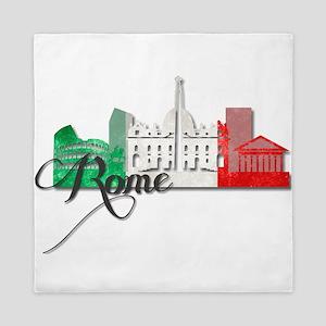 Rome Italy Queen Duvet