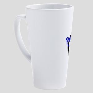 Proud Police Mom 17 oz Latte Mug