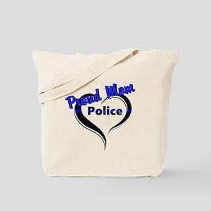 Proud Police Mom Tote Bag