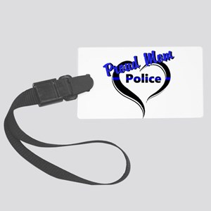 Proud Police Mom Luggage Tag